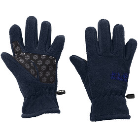 Jack Wolfskin Fleece Gloves Lapset, midnight blue